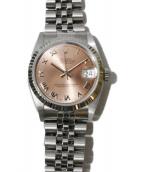 ROLEX(ロレックス)の古着「腕時計/デイトジャスト ボーイズ」|ピンク