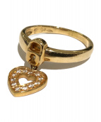 K18 Diamonds Ring(18金 ダイヤモンド リング)の古着「ハートモチーフリング」