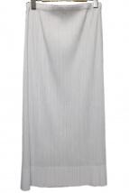 PLEATS PLEASE(プリーツ プリーズ)の古着「プリーツロングスカート」|ホワイト