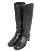 PRADA(プラダ)の古着「レザーブーツ」|ブラック
