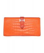 HERMES(エルメス)の古着「長財布/ベアン」|オレンジ
