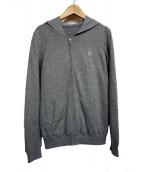 lucien pellat-finet(ルシアンペラフィネ)の古着「ジップパーカー」|グレー