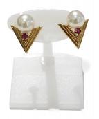 K18 Earrings(18金 イヤリング)の古着「V字イヤリング」