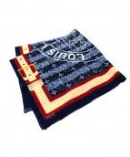 LOUIS VUITTON(ルイ・ヴィトン)の古着「デニムプリントスカーフ」|インディゴ