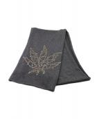lucien pellat-finet(ルシアンペラフィネ)の古着「ラインストーンマフラー」 グレー