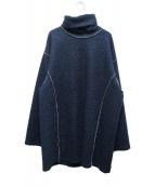 MM6(エムエムシックス)の古着「ハイネックニット」|ネイビー