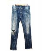DSQUARED2(ディースクエアード)の古着「ダメージデニムパンツ」|ブルー
