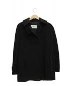 Max Mara(マックスマーラ)の古着「カシミヤ混シングルコート」|ブラック