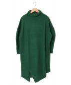 ENFOLD(エンフォルド)の古着「ニットワンピース」|グリーン
