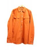 GUILD PRIME(ギルドプライム)の古着「シャツジャケット」 オレンジ