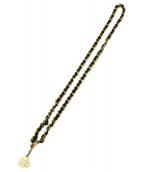 CHANEL(シャネル)の古着「チェーンベルト」 ゴールド×ブラック