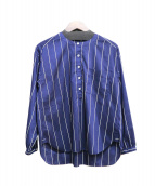 MACKINTOSH PHILOSOPHY(マッキントッシュフィロソフィー)の古着「ストライプシャツ」|ブルー