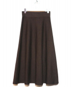 DEUXIEME CLASSE(ドゥーズィエムクラス)の古着「ニットスカート」|ブラウン