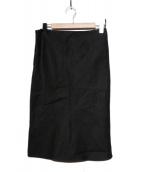 FENDI(フェンディ)の古着「リネンスカート」|ブラック