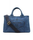 PRADA(プラダ)の古着「カナパ/デニム2wayトートバッグ」