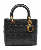 Dior(ディオール)の古着「レディディオール カナージュ/ハンドバッグ」|ブラック