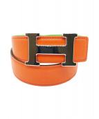 HERMES(エルメス)の古着「コンスタンス ベルト」|オレンジ