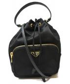 PRADA(プラダ)の古着「巾着2WAYショルダーバッグ」|ブラック