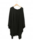 THE ROW(ザ ロウ)の古着「オーバーシルエットワンピース/ケープドレス」 ブラック