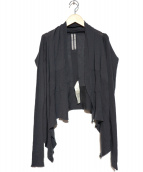 RICK OWENS(リックオウエンス)の古着「long sleeved cardigan」|グレー