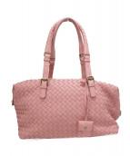 BOTTEGA VENETA(ボッテガヴェネタ)の古着「イントレチャートハンドバッグ」|ピンク