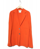 CELINE(セリーヌ)の古着「テーラードジャケット」 オレンジ