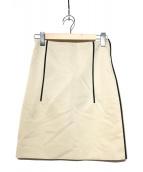 PRADA(プラダ)の古着「ラインデザインスカート」|ベージュ