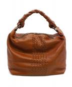 BOTTEGA VENETA(ボッテガベネタ)の古着「レザーハンドバッグ」|ブラウン