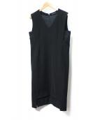 YOKO CHAN(ヨーコチャン)の古着「V-neck Hem Lace Dress」|ブラック