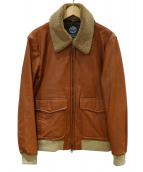 ROIALA PPAREL(ロイヤルアパレル)の古着「レザージャケット」|ブラウン