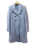 GUCCI(グッチ)の古着「モヘアロングコート」|ライトブルー