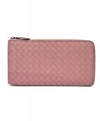 BOTTEGA VENETA(ボッテガヴェネタ)の古着「長財布」|ピンク