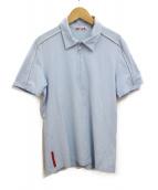PRADA SPORTS(プラダスポーツ)の古着「ハーフジップシャツ」|スカイブルー