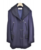 MARNI(マルニ)の古着「メルトンハーフコート」|パープル