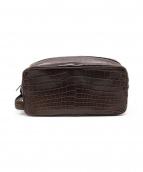 BOTTEGA VENETA(ボッテガベネタ)の古着「クラッチバッグ」|ブラウン