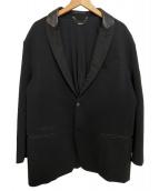 DIESEL(ディーゼル)の古着「レザーカラーテーラードジャケット」 ブラック