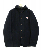 DANTON(ダントン)の古着「丸襟ウールモッサジャケット」|ネイビー