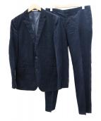 Calvin Klein(カルバンクライン)の古着「2Bコーデュロイセットアップスーツ」|ネイビー