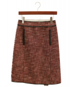 BOTTEGA VENETA(ボッテガベネタ)の古着「ツイードスカート」 レッド