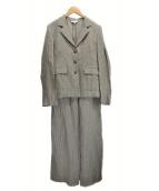 agnes b(アニエスベ)の古着「ヒッコリーセットアップスーツ」|グレー