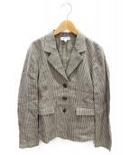 agnes b(アニエスベー)の古着「ヒッコリーセットアップスーツ」 グレー