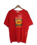 GUCCI(グッチ)の古着「オールドヴィンテージメッシュTシャツ」|レッド