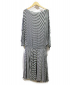 Maison Margiela(メゾンマルジェラ)の古着「ブラウスワンピース」|ホワイト×ブラック