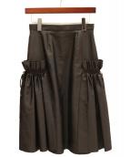 ADEAM(アディアム)の古着「フリルデザインスカート」|ブラック