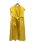 BLAMINK(ブラミンク)の古着「ラップドレス」|イエロー