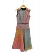 ESCADA(エスカーダ)の古着「ツィードノースリーブワンピース」