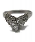Pt900 Diamonds Ring(Pt900 ダイヤモンドリング)の古着「V字リング」