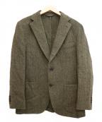 Belvest(ベルベスト)の古着「ヘリンボーン2Bテーラードジャケット」|カーキ
