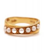 K18 Pearl Ring(18金 パールリング)の古着「パール付きリング」