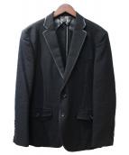 BURBERRY LONDON(バーバリーロンドン)の古着「レザー切替ジャケット」|ブラック
